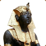Statue of Tutankhamun wearing a Nemes Headdress